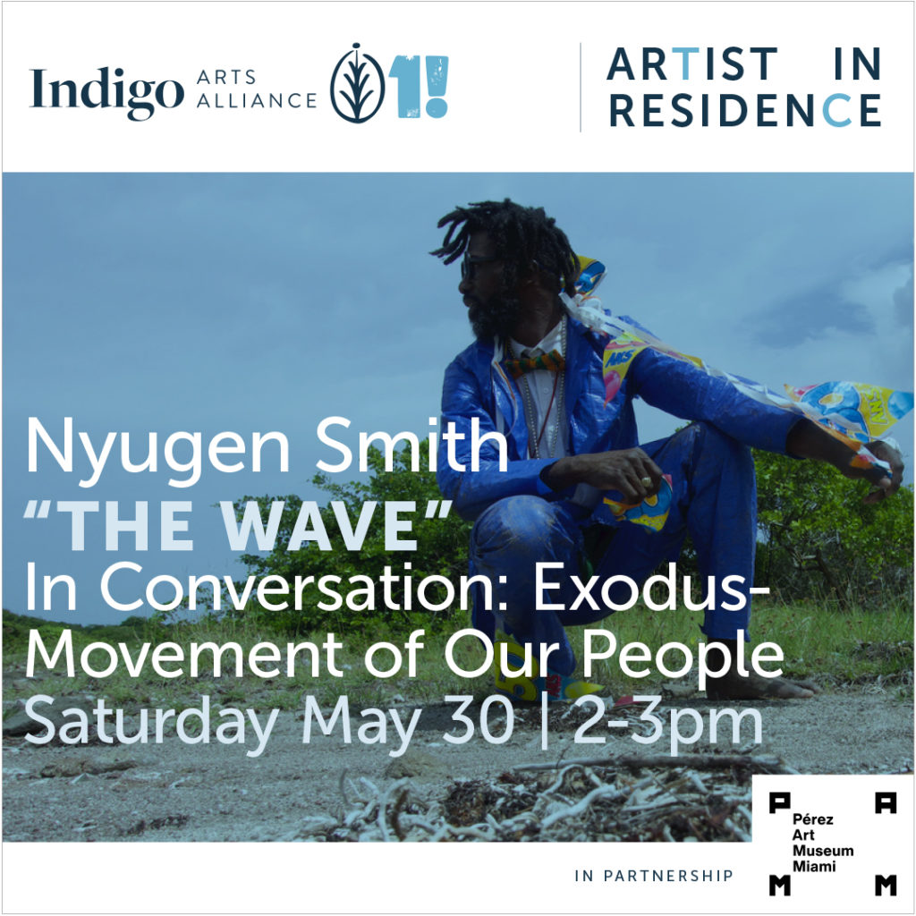 "Nyugen Smith, ""The Wave"" Saturday May 30th, 2-3 pm"