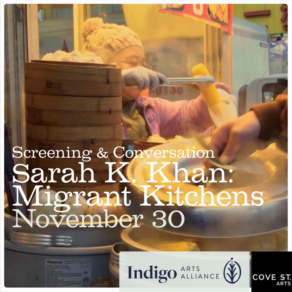 Film Screening and Conversation with Sarah K. Khan: Selections from her Migrant Kitchens Series.